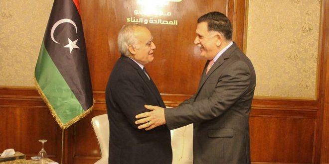 """""""سلامة"""" يصل إلى العاصمة طرابلس ويلتقي """"السراج"""""""