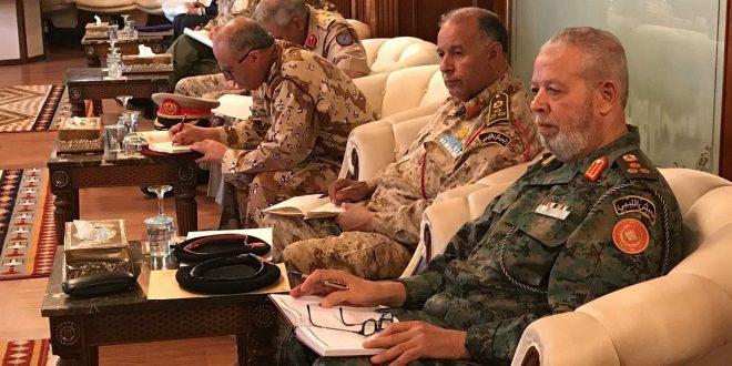 اختتام الاجتماع الرابع لوفد من الضباط الليبيين في القاهرة لبناء الجيش الليبي