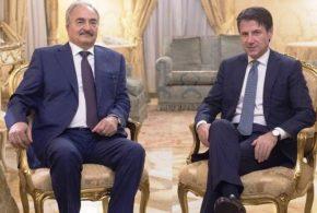 """آكي: رئيس الحكومة الإيطالية """"كونتي"""" يستقبل """"حفتر"""" لدعم """"سلامة"""""""