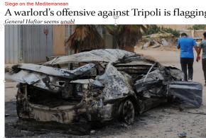 عيون- هجوم أمير الحرب على طرابلس يتراجع