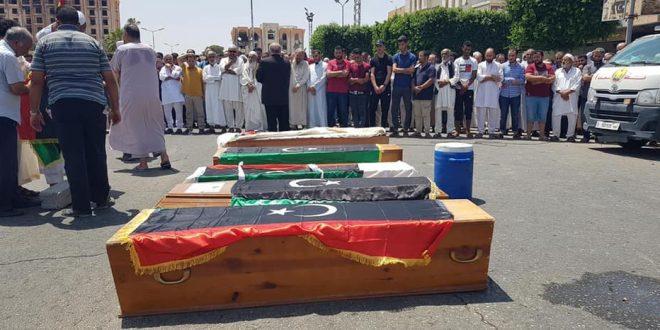 مجزرة في الأطقم الطبية بعد استهداف الطيران الداعم لحفتر لمستشفى بطريق المطار طرابلس