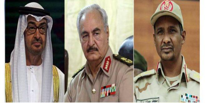 """موقع بريطاني: الإمارات تدفع بـقوات """"حميدتي"""" لدعم """"حفتر"""" في ليبيا عبر عميل إسرائيلي سابق"""