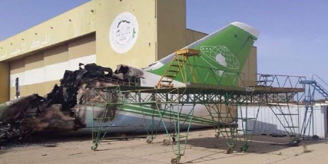 الروس يمدون حفتر بطائرتي شحن بدل الطائرات التي دمرها سلاح الجو الليبي في الجفرة