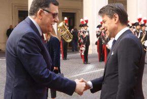"""""""السراج"""" يصل إلى روما ويلتقي """"كونتي"""" بالتزامن مع وصول ماكرون وعمل ألماني لاستضافة مؤتمر دولي حول ليبيا"""