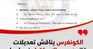 الشؤون الخارجية بمجلس النواب الأمريكي توافق على تعديلات قانون دعم الاستقرار في ليبيا