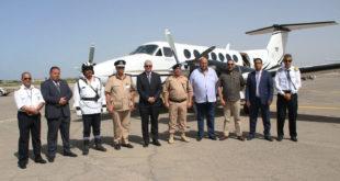 انطلاق أول رحلة للطائرة 5A-MIS  التابعة لوزارة الداخلية