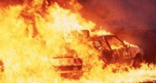 حادث مروري يؤدي إلى وفاة ثمانية أشخاص حرقا على طريق الشويرف- الجفرة