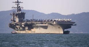 حاملة طائرات أمريكية تنتشر في الخليج، والبحرية تقول إنه لا علاقة لها بـ 'تهديدات محددة'