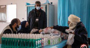 قافلة مساعدات طبية إلى النازحين ببلدية درج الحدودية