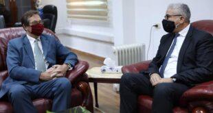 باشاغا يبحث مع السفير البريطاني تدريب الكوادر الأمنية الليبية لمكافحة الإرهاب والجريمة المنظمة
