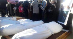 بميدان الشهداء بطرابلس. صلاة الجنازة على (14) من ضحايا المقابر الجماعية بترهونة