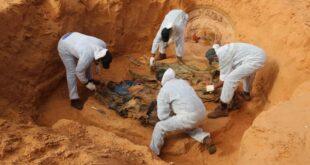 هيئة المفقودين: انتشال أربع جثث من مقبرة جماعية جديدة مكتشفة بترهونة
