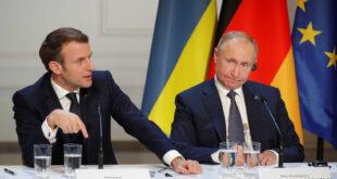"""ماكرون يدعو إلى """"خطوط حمراء"""" مع روسيا"""