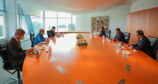 الدبيبة وميركل يقيمان نتائج مؤتمر برلين الثاني والتعاون السياسي والاقتصادي بين البلدين