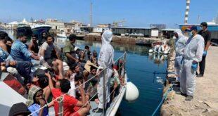 الإدارة العامة لأمن السواحل تعلن إنقاذ (147) مهاجراً غير شرعي فجر اليوم في عرض البحر